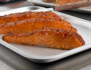 Moroccan Harissa-Style Marinated Salmon Portions (skin-on, boneless)