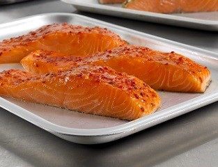 Sweet Chilli & Lime Marinated Salmon Portions (skin-on, boneless)
