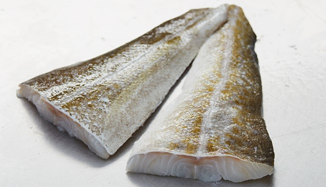Defrosted Cod Tail Fillets (Skin-on, boneless)