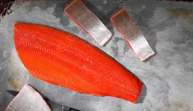 NEW! Defrosted Wild Sockeye Fillets (Skin-on, pin bone out)